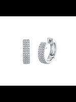 Jill Alberts Diamond Pave Huggie Earrings