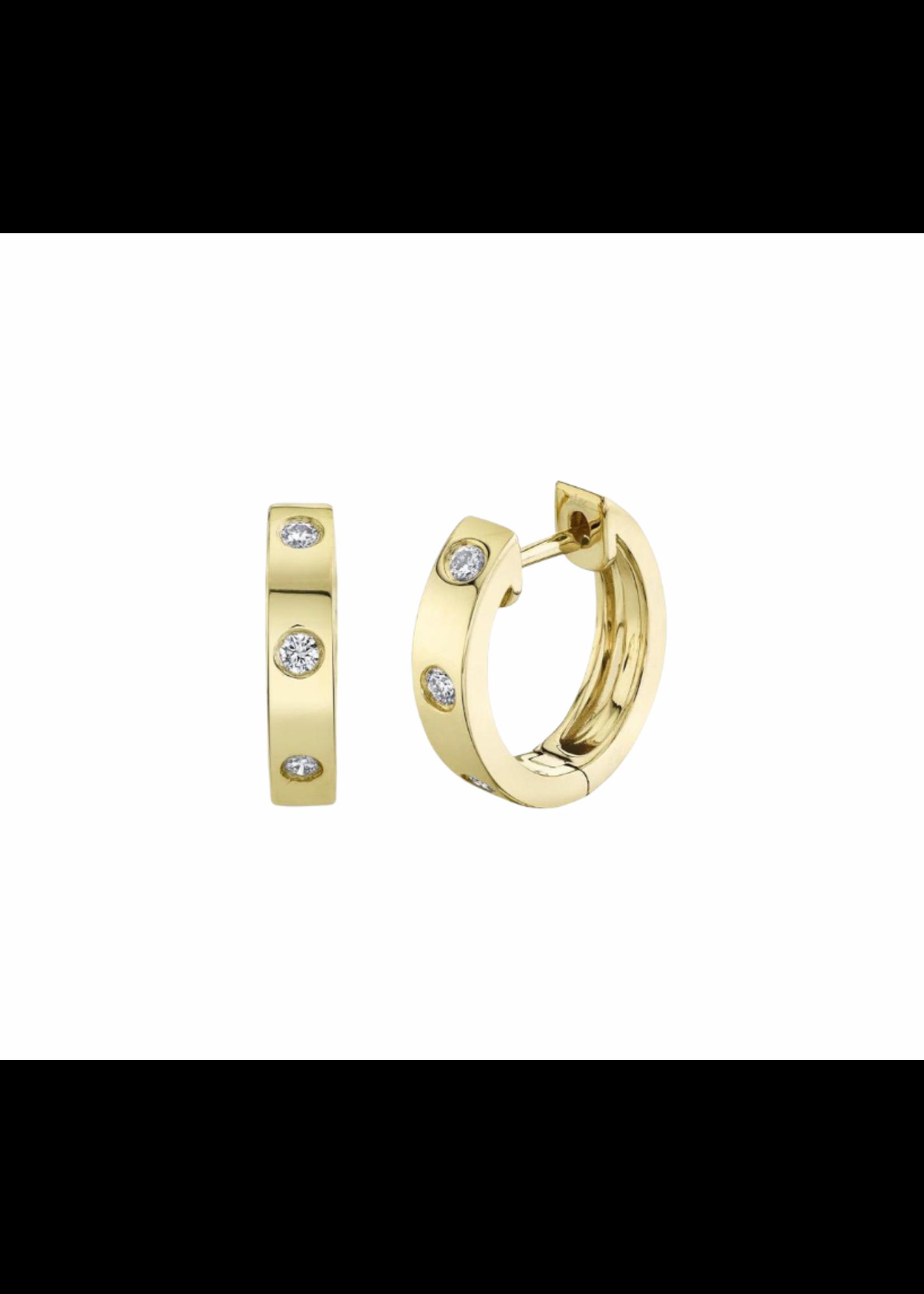 Jill Alberts Diamond Huggie Earrings