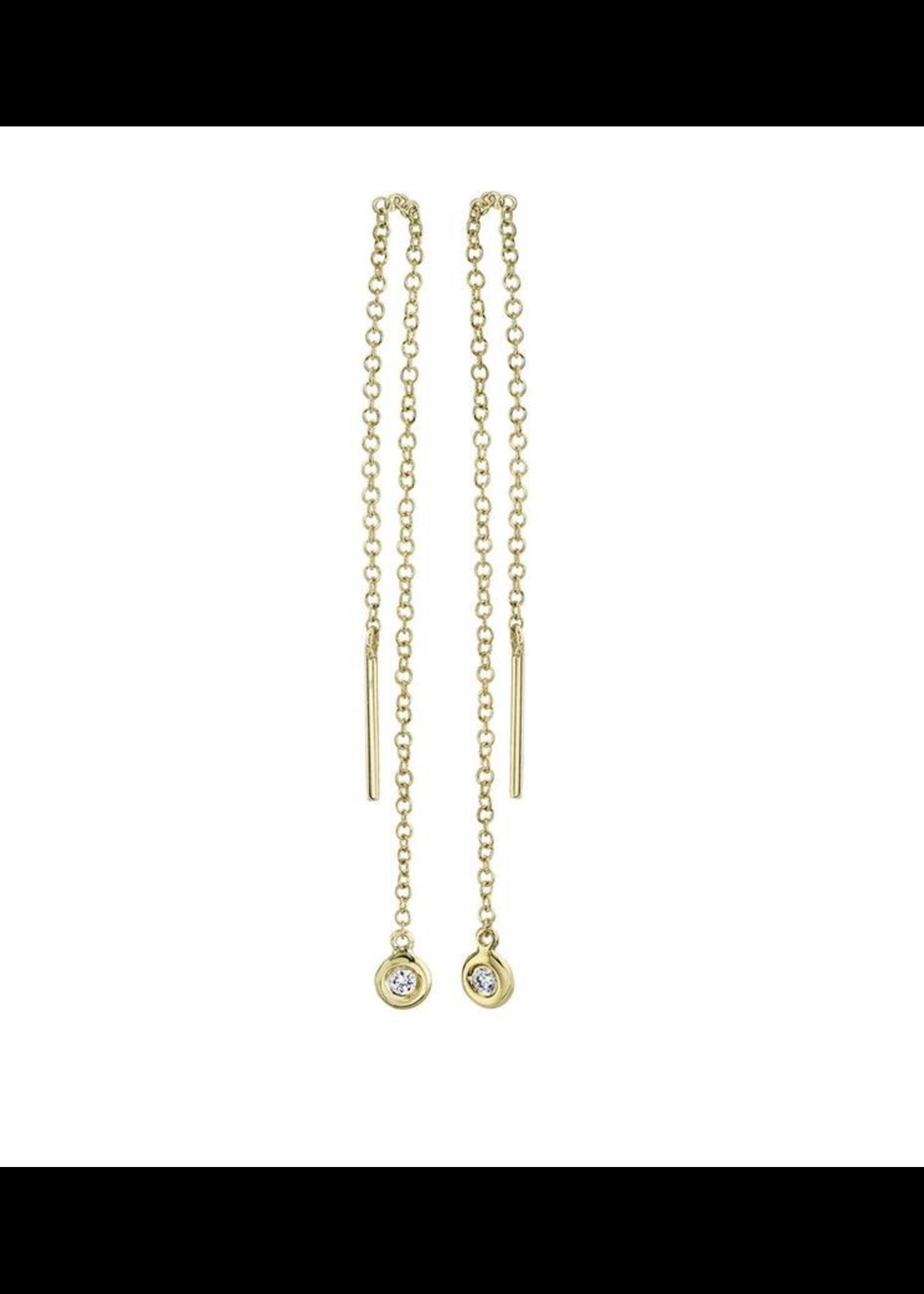 Jill Alberts Diamond Threader Earrings