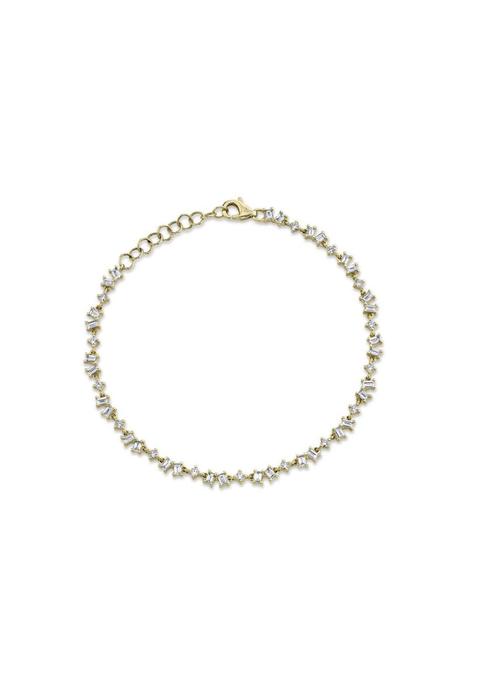 Jill Alberts Diamond Baguette Bracelet