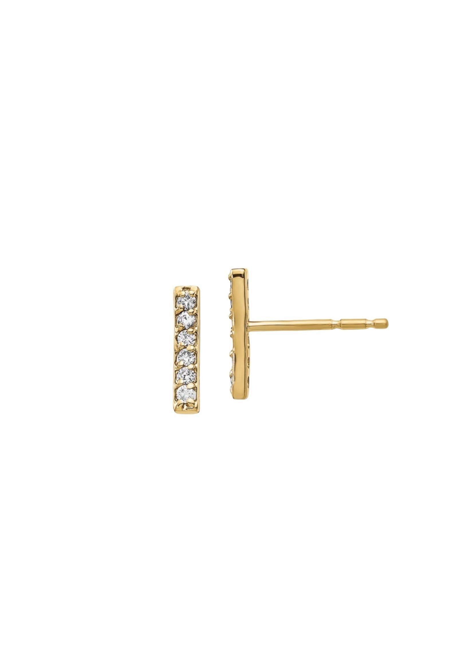 Jill Alberts Diamond Bar Stud Earrings