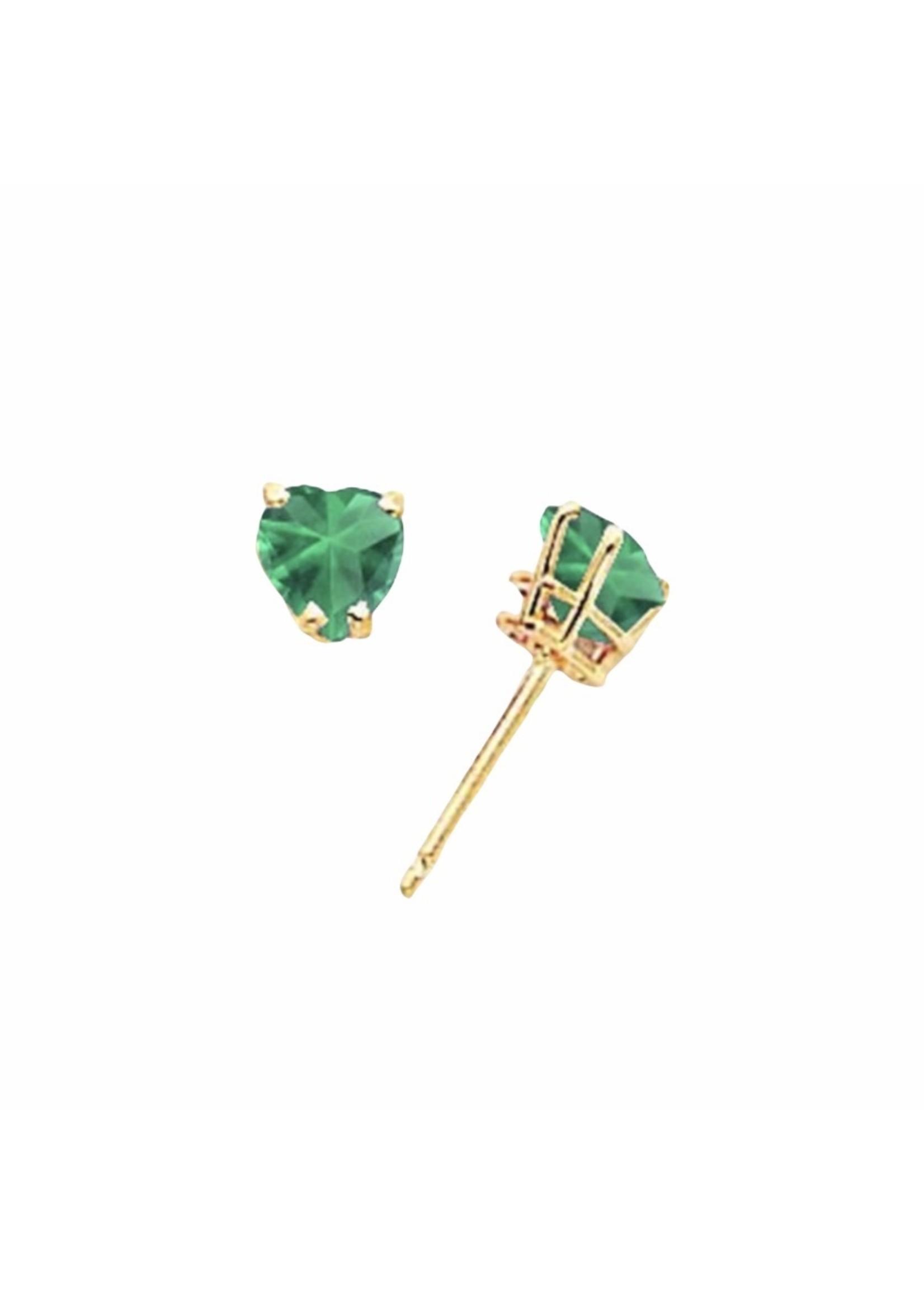 Jill Alberts Mount St. Helens Heart Stud Earrings
