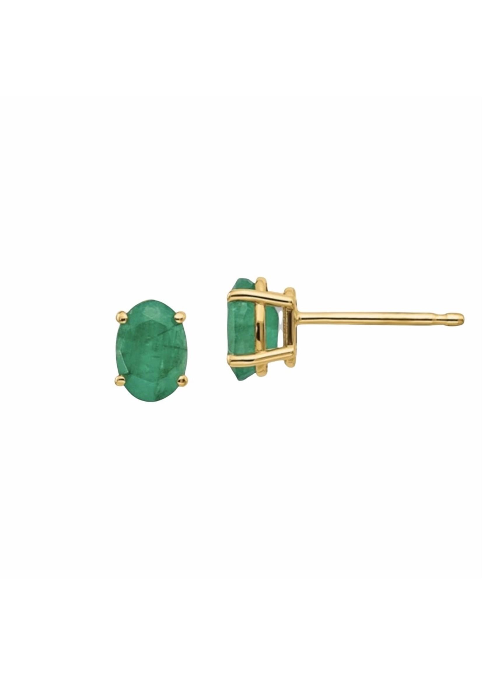 Jill Alberts Emerald Stud Earrings