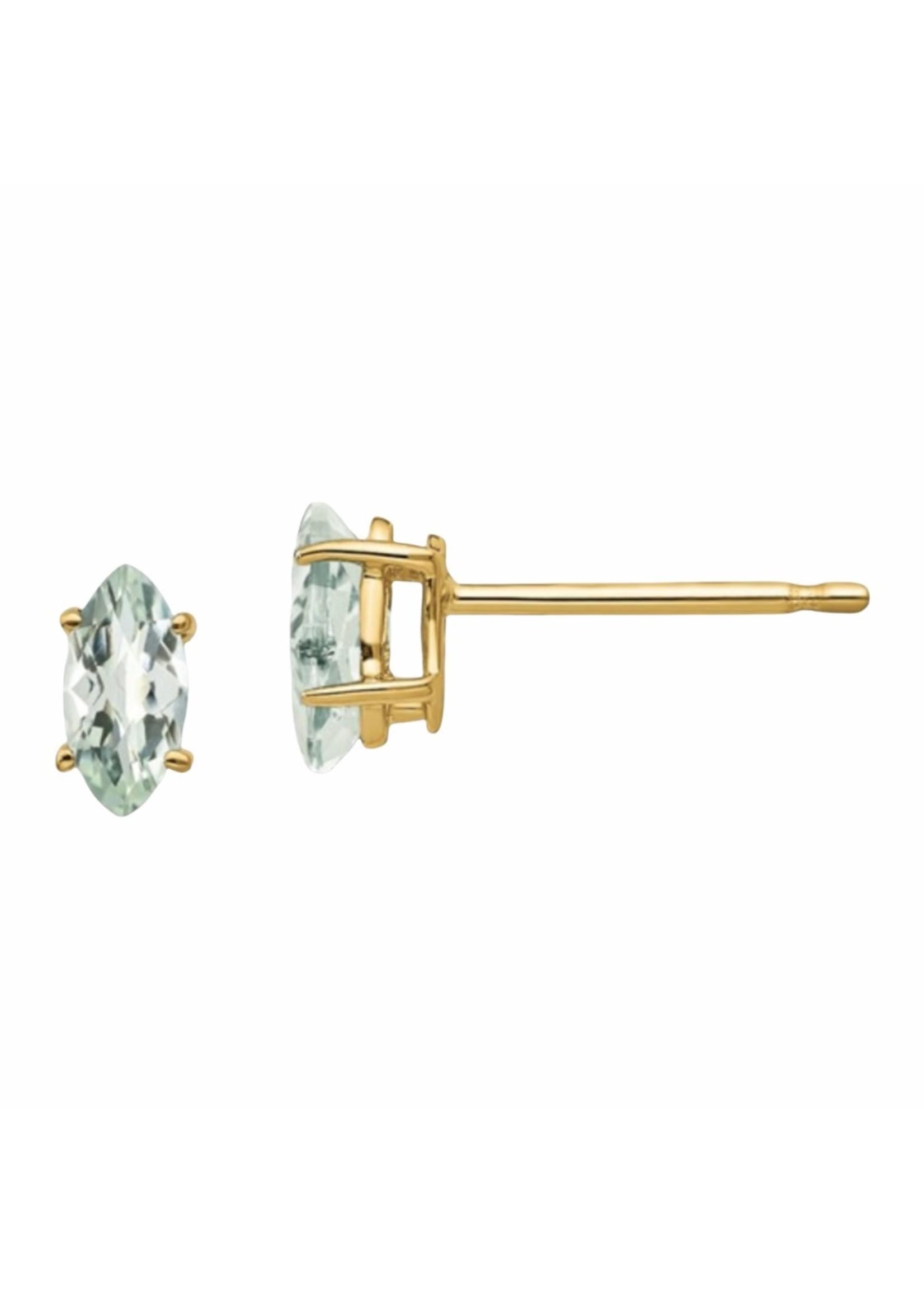Jill Alberts Green Quartz Stud Earrings