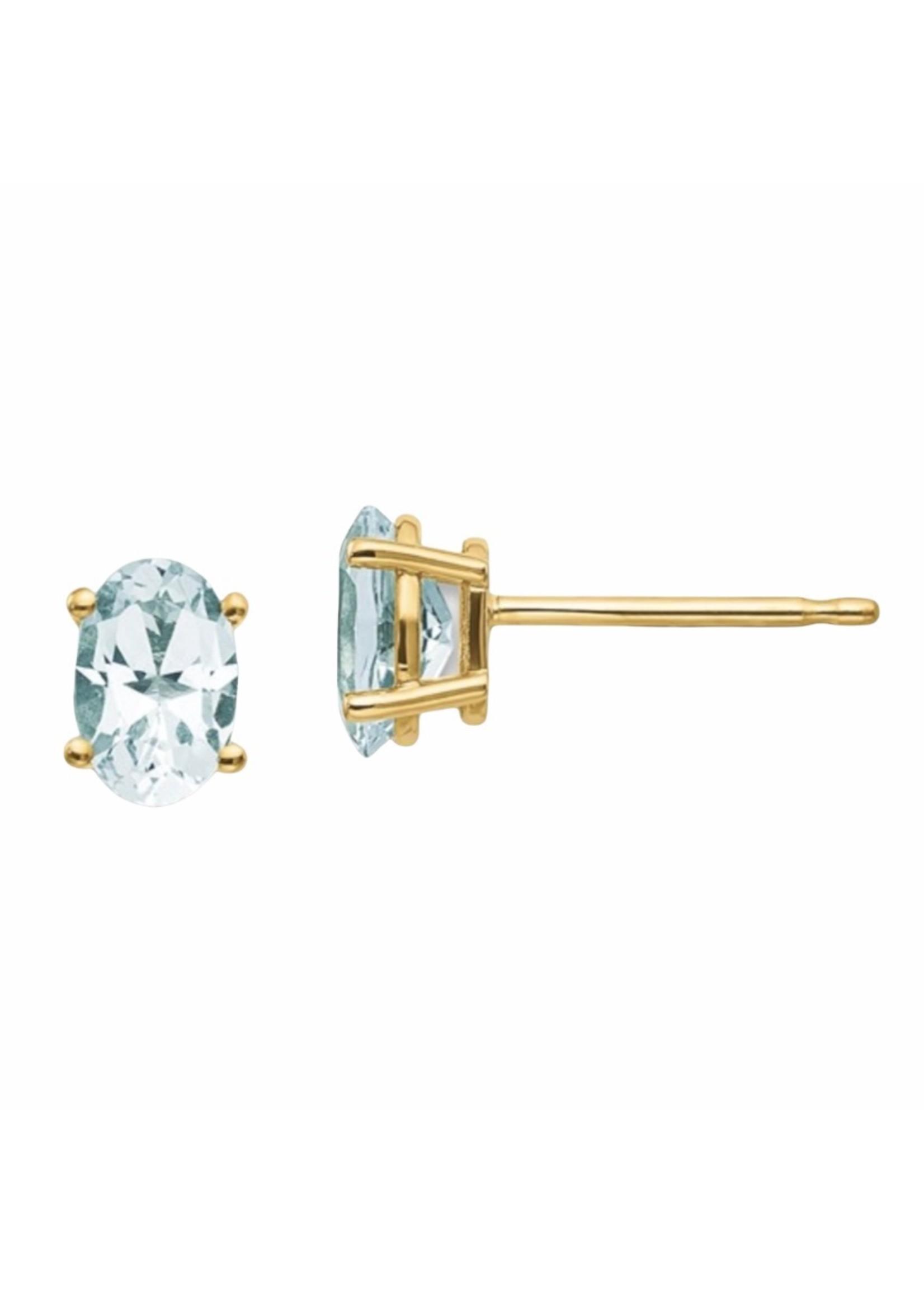 Jill Alberts Aquamarine Stud Earrings