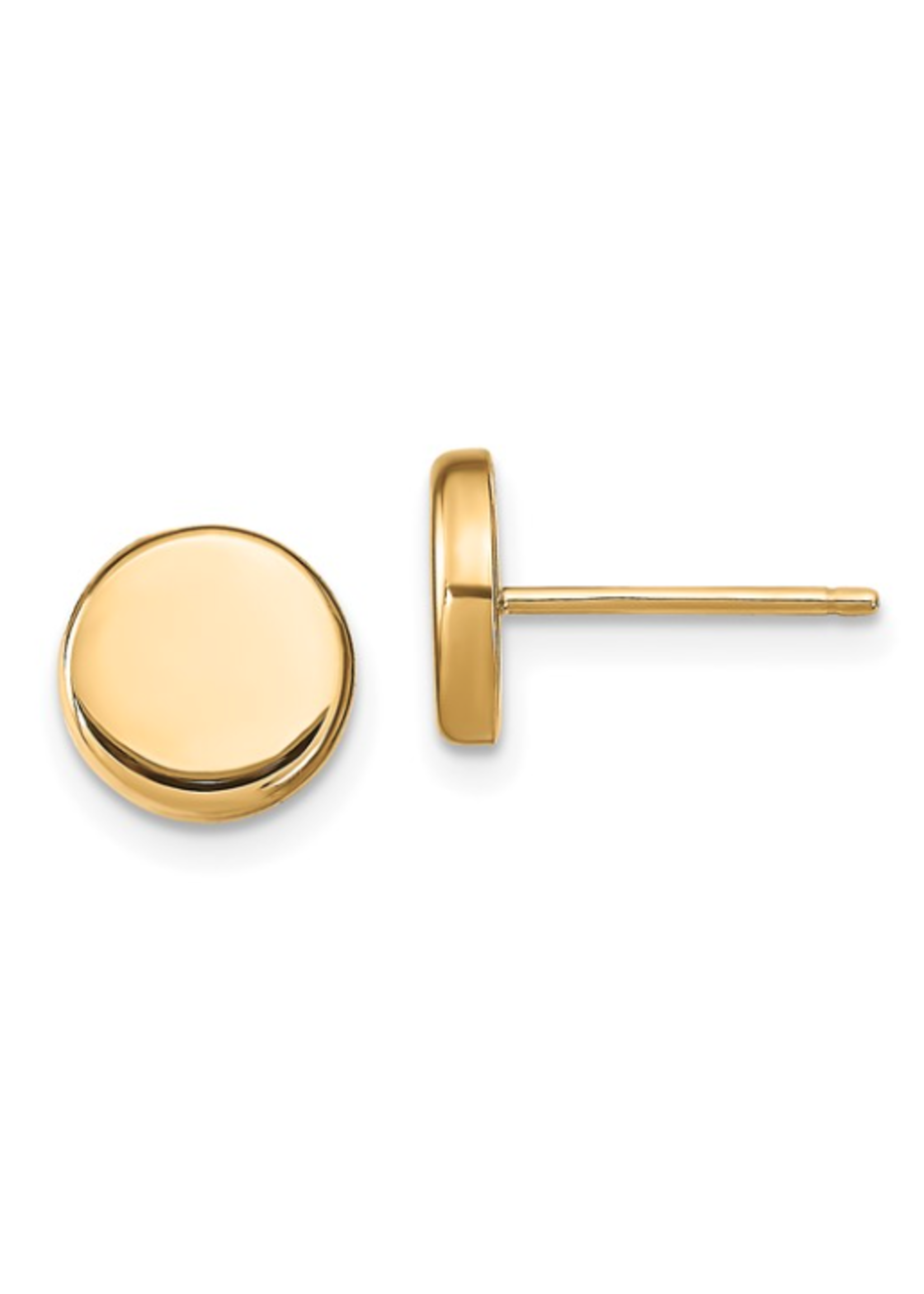 Jill Alberts Button Post Earrings