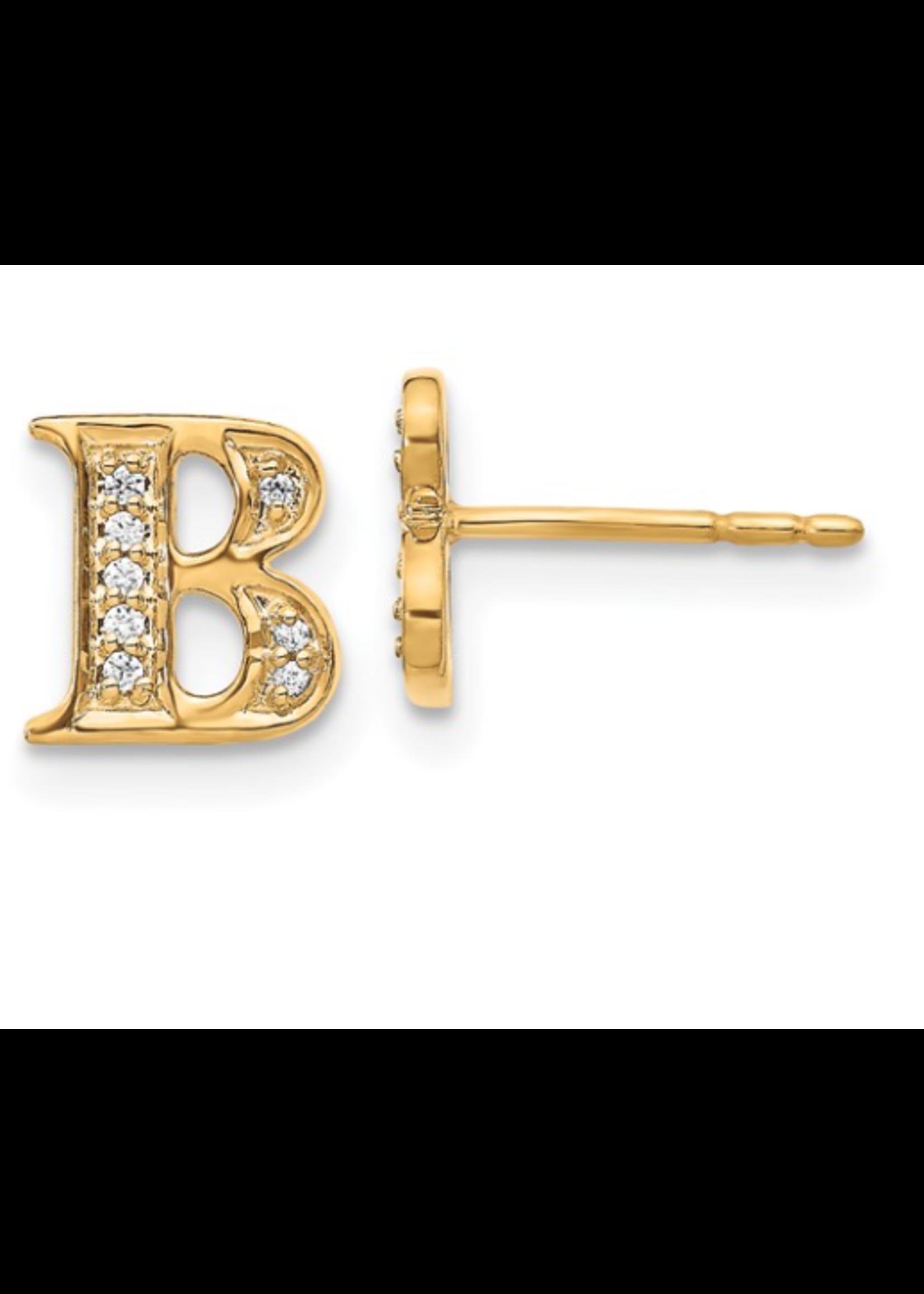 Jill Alberts Diamond Initial Earrings