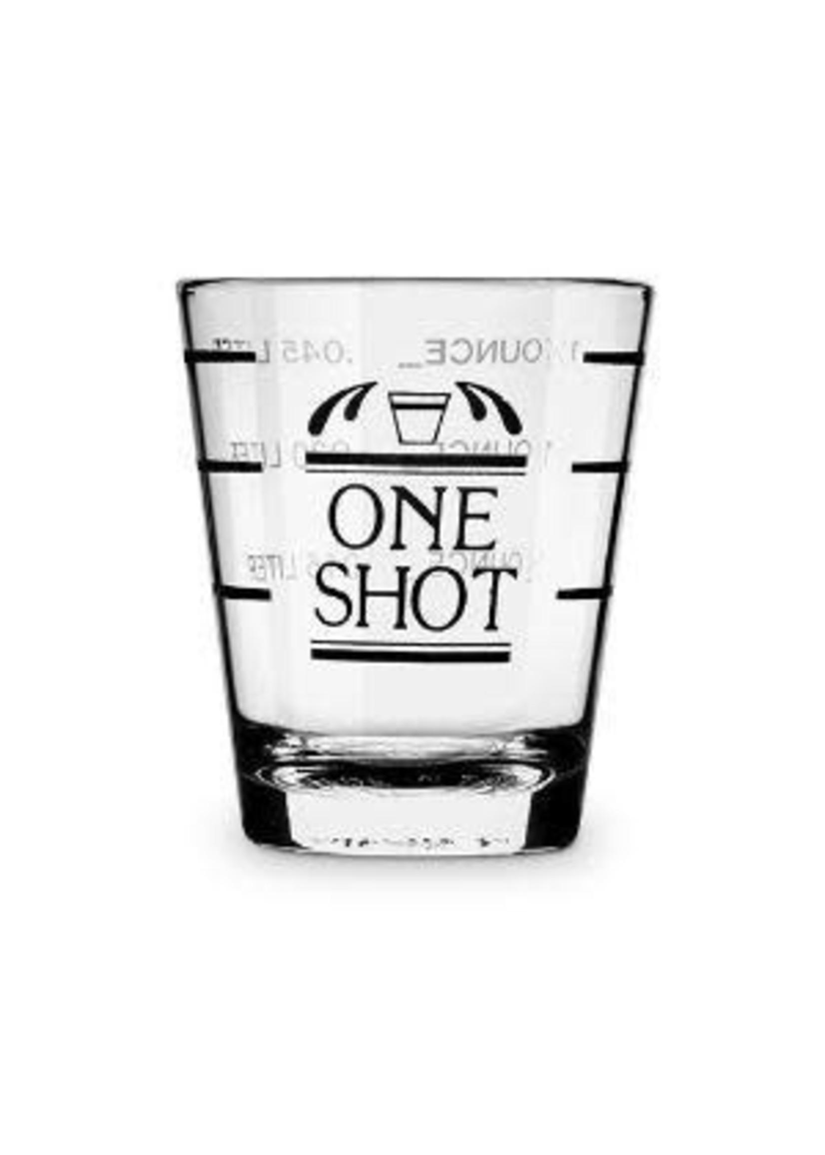 True Brands Bullseye: Measured Shot Glass