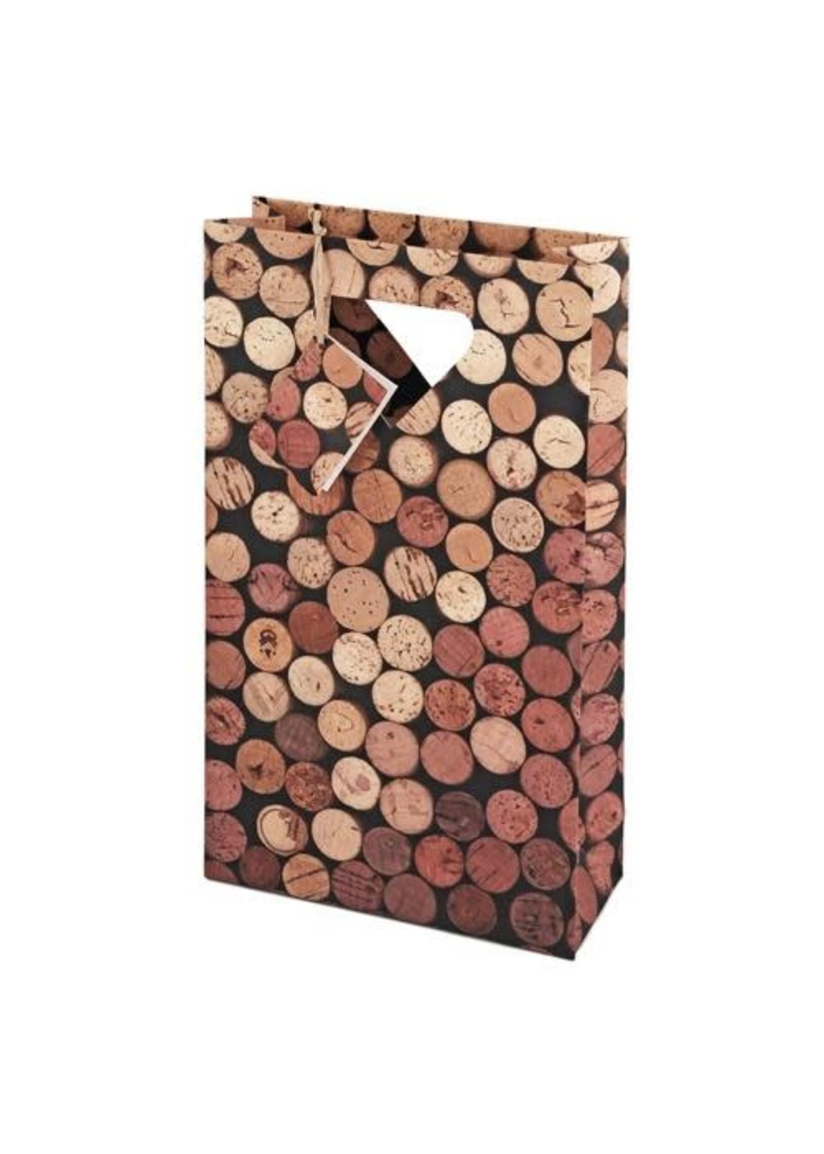 True Brands 2-Bottle Corks Wine Bag