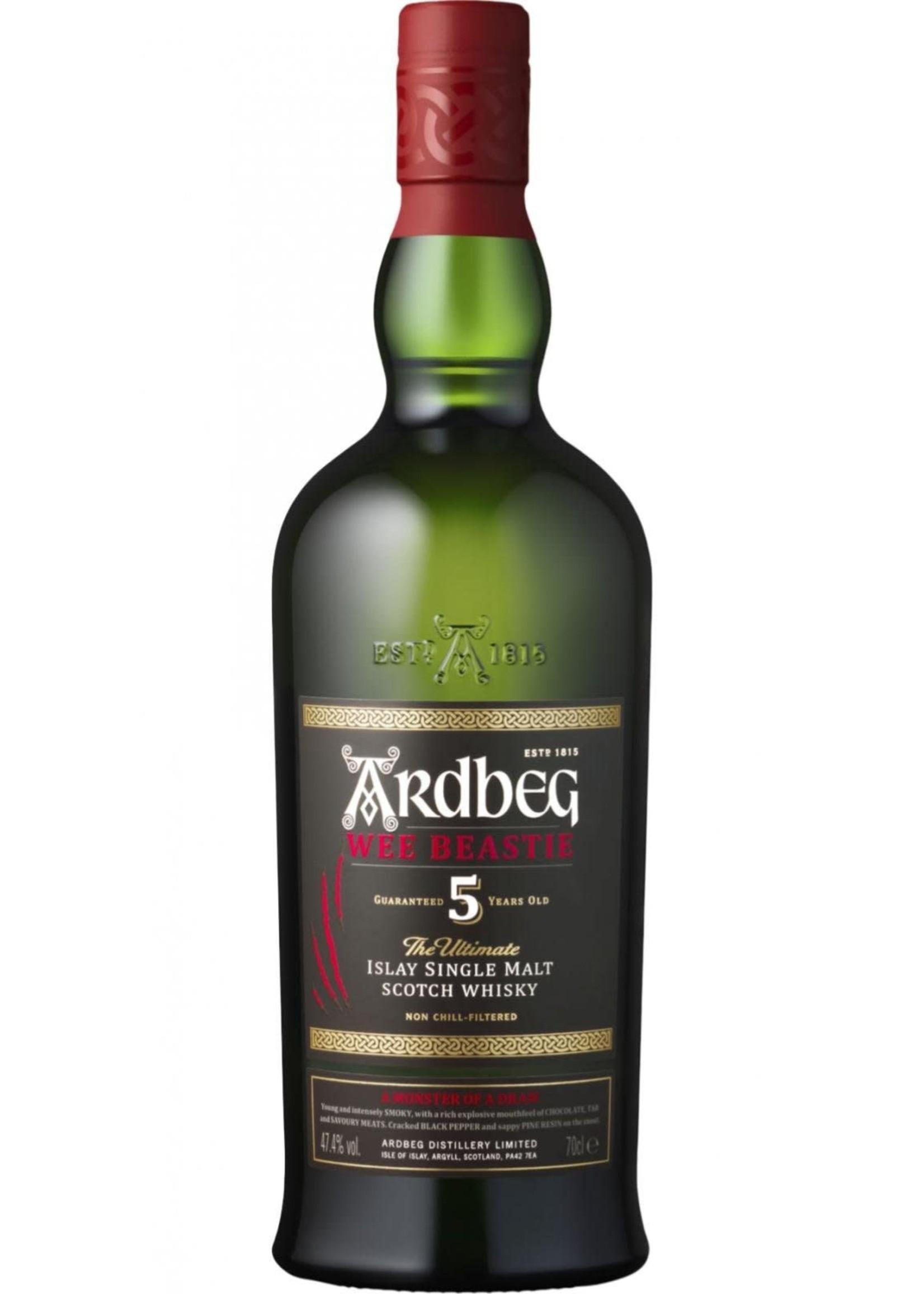ARDBEG Ardbeg / Wee Beastie 5 year single malt / 750mL