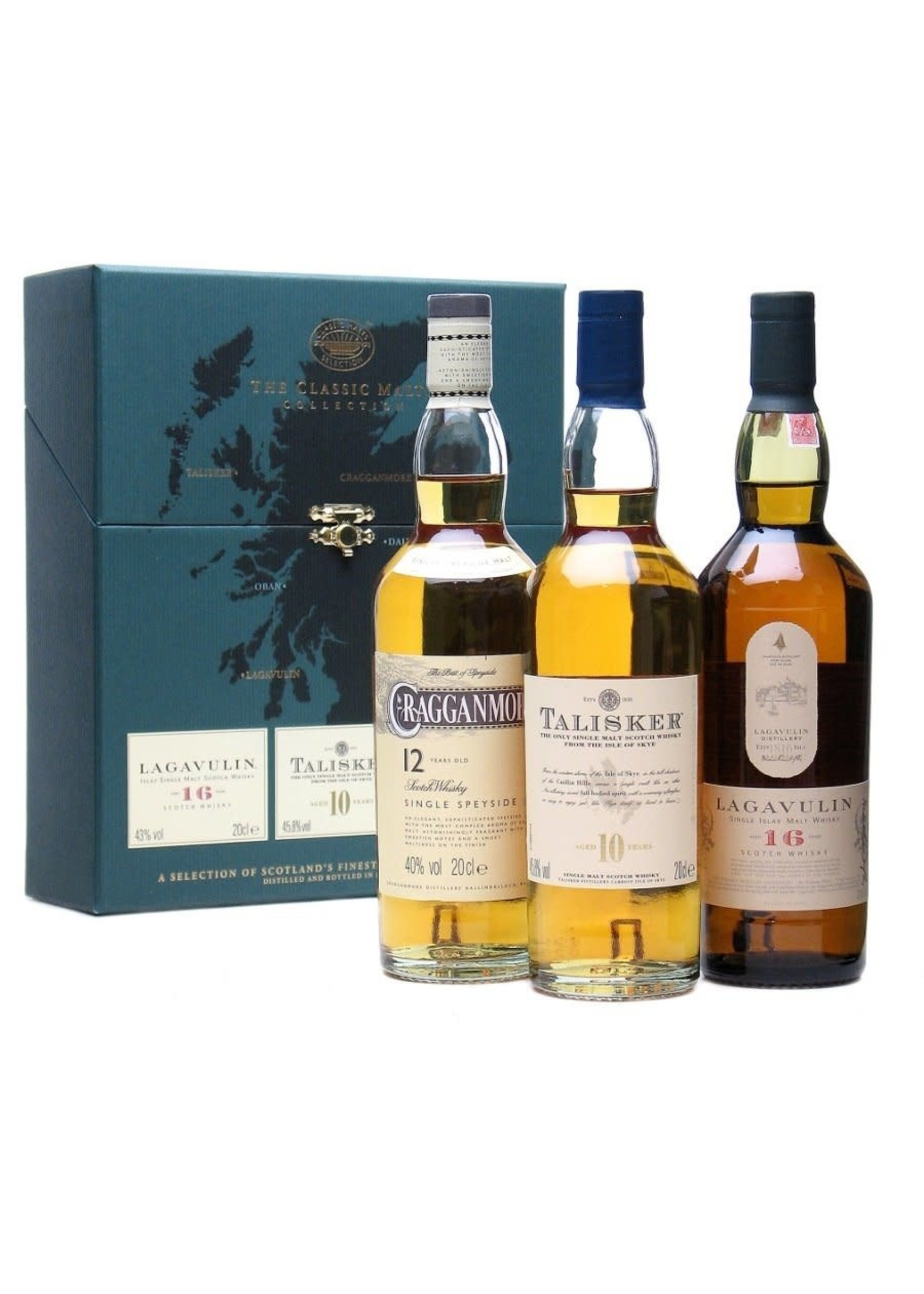 Diageo Classic Malts Selections, Strong Collection (10 Year Old Talisker, 12 Year Old Cragganmore, 16 Year Old Lagavulin) / 3x 200mL