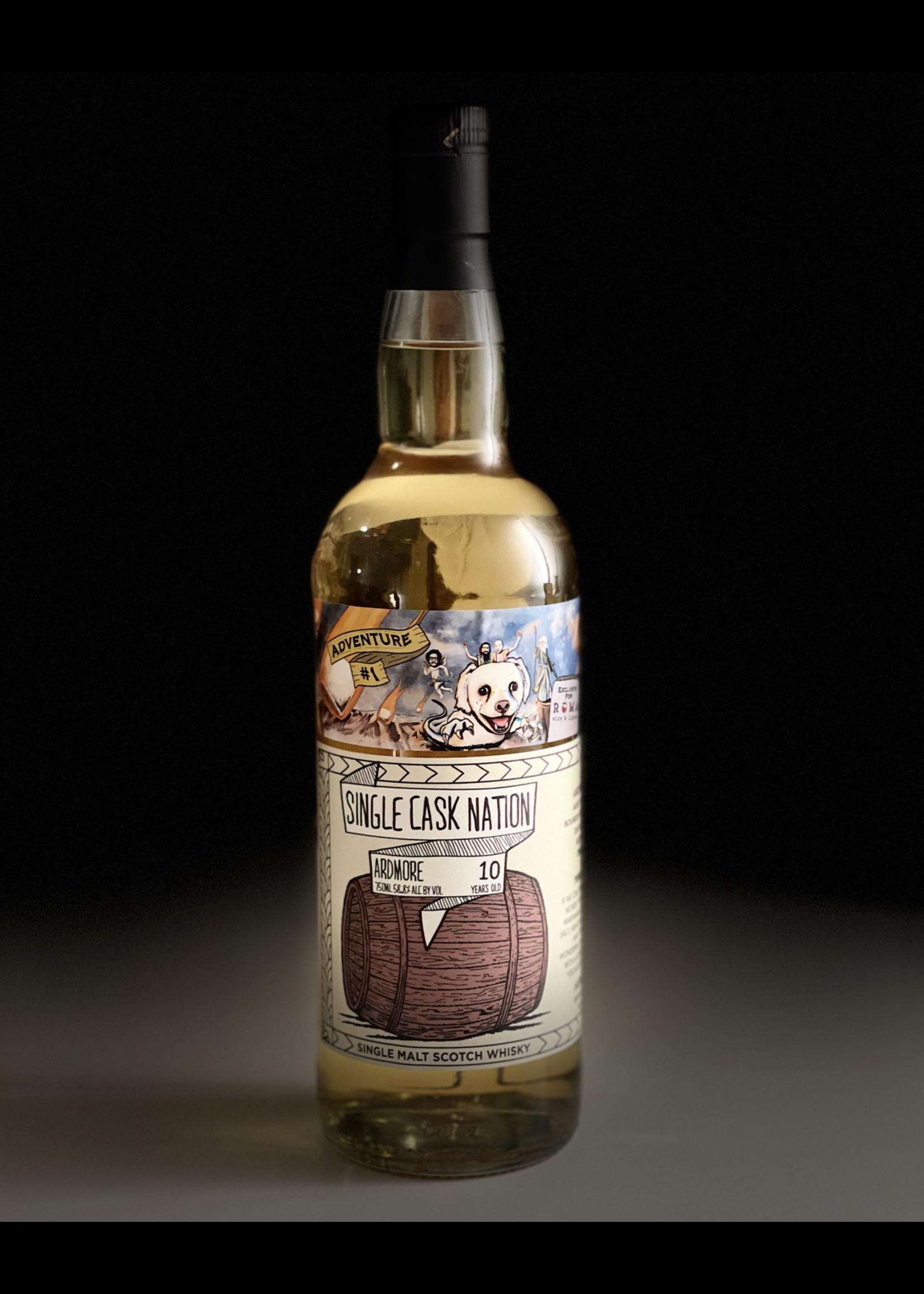 Single Cask Nation Single Cask Nation / Roma Exclusive / Ardmore 10 Year 1st fill Bourbon Hogshead Single Cask / 750mL