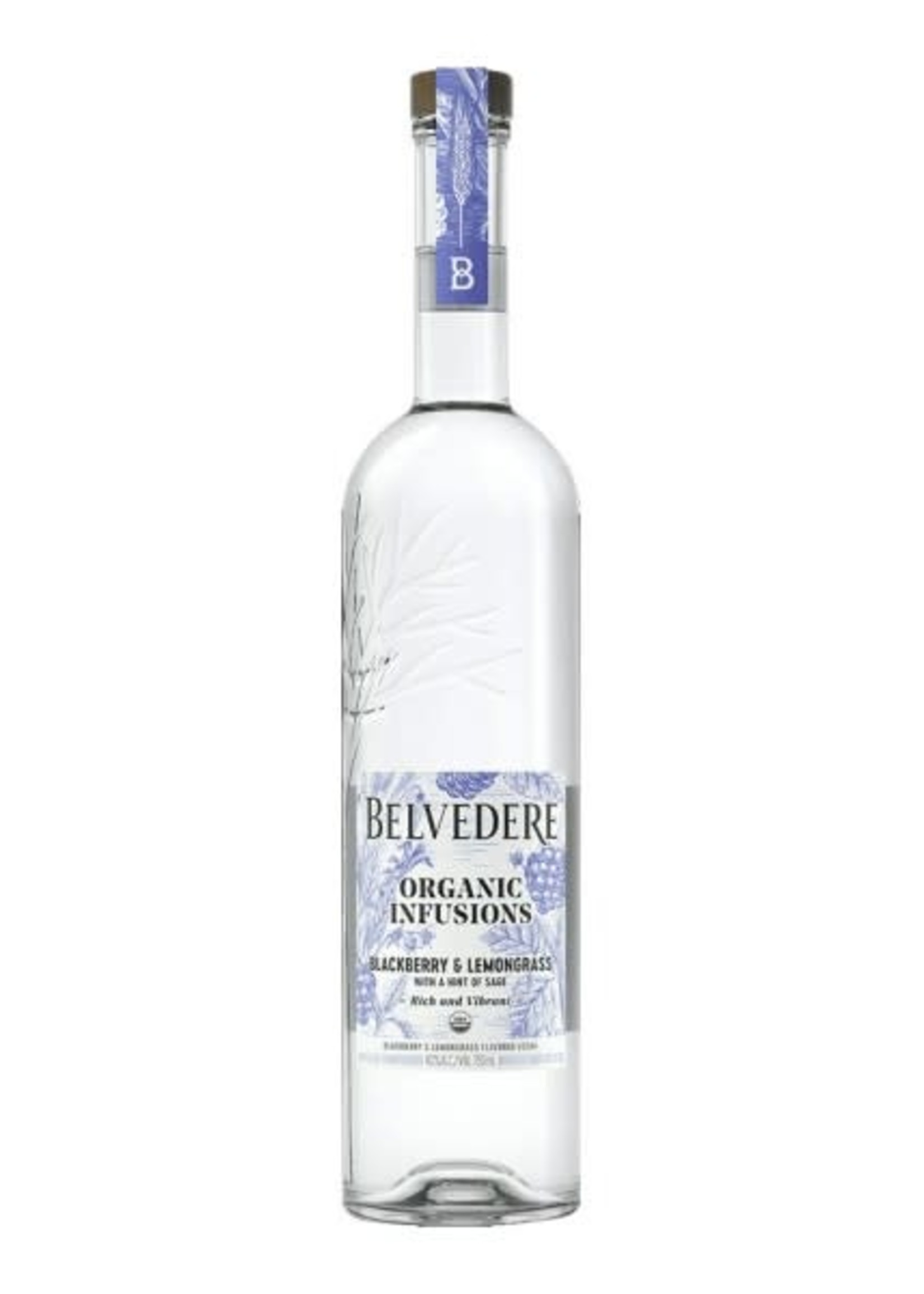 Belvedere Belvedere / Organic Infusions Blackberry & Lemongrass Flavored Vodka / 750mL