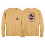 L2 Brands Vacay Palm Long Sleeve Pocket Tee