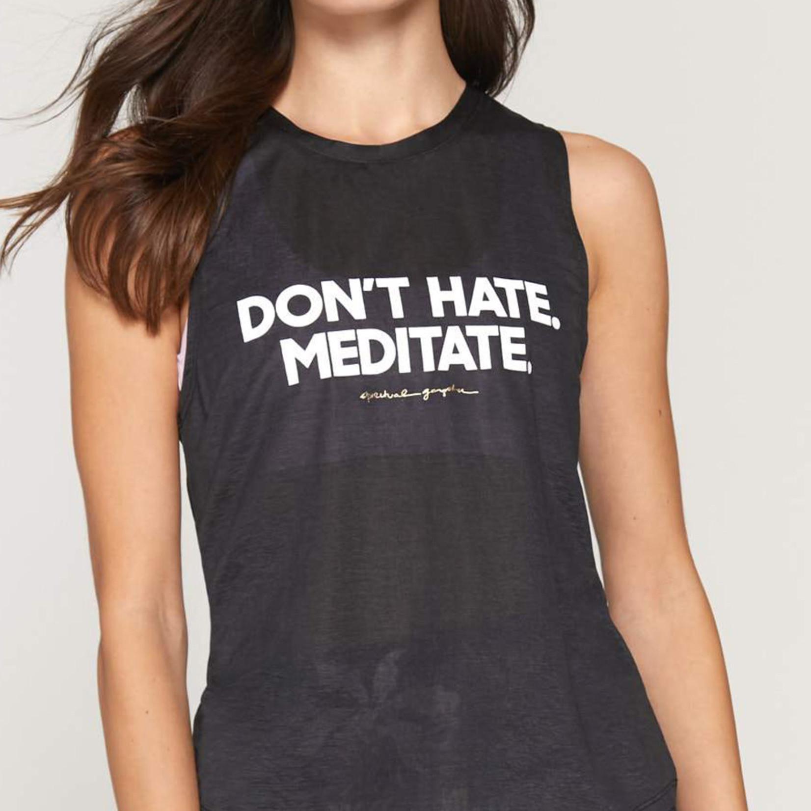 Spiritual Gangster Meditate Active Muscle Tank