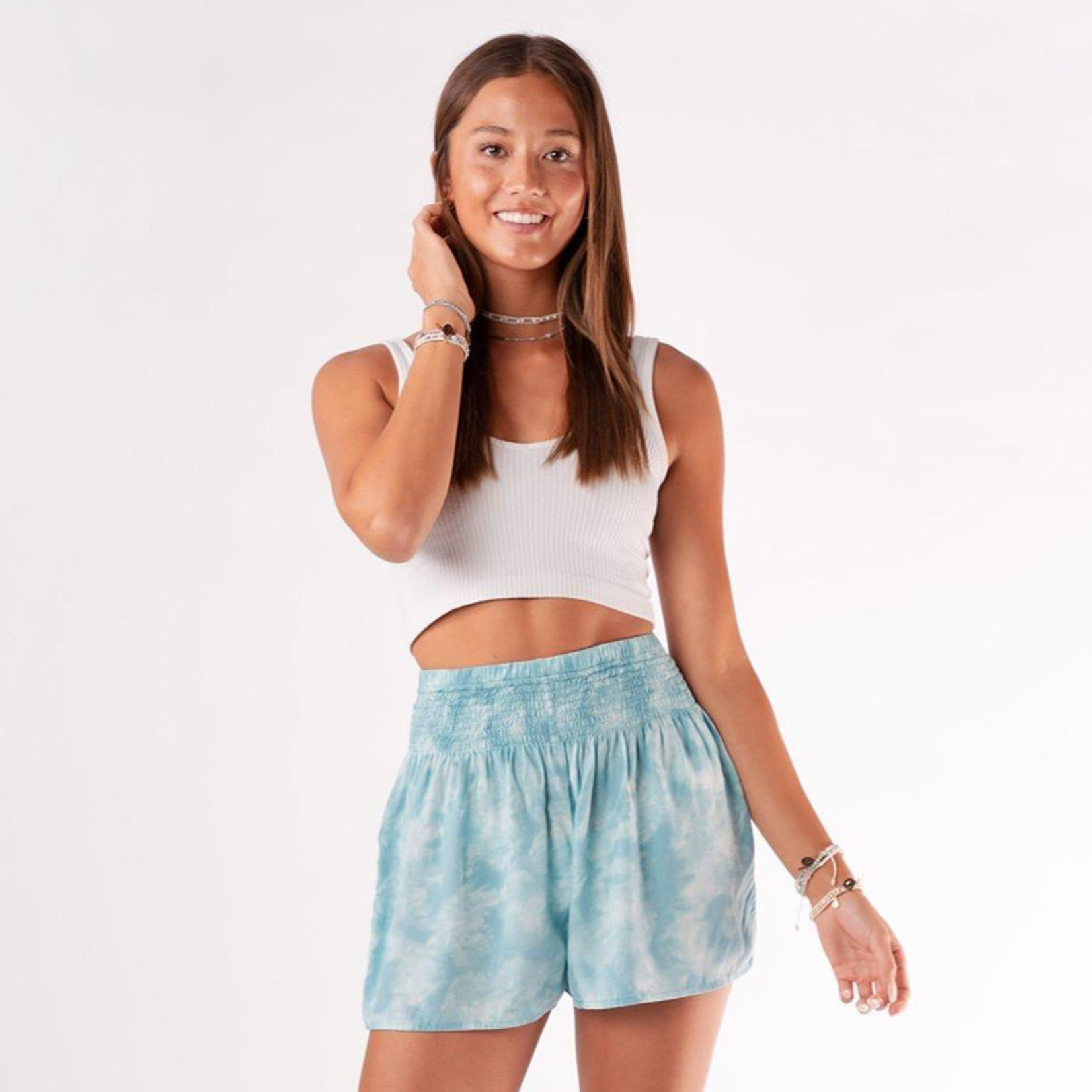 Lotus and Luna Flowy Printed Shorts