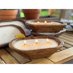 Forever Green Art Carved Bowl Candle