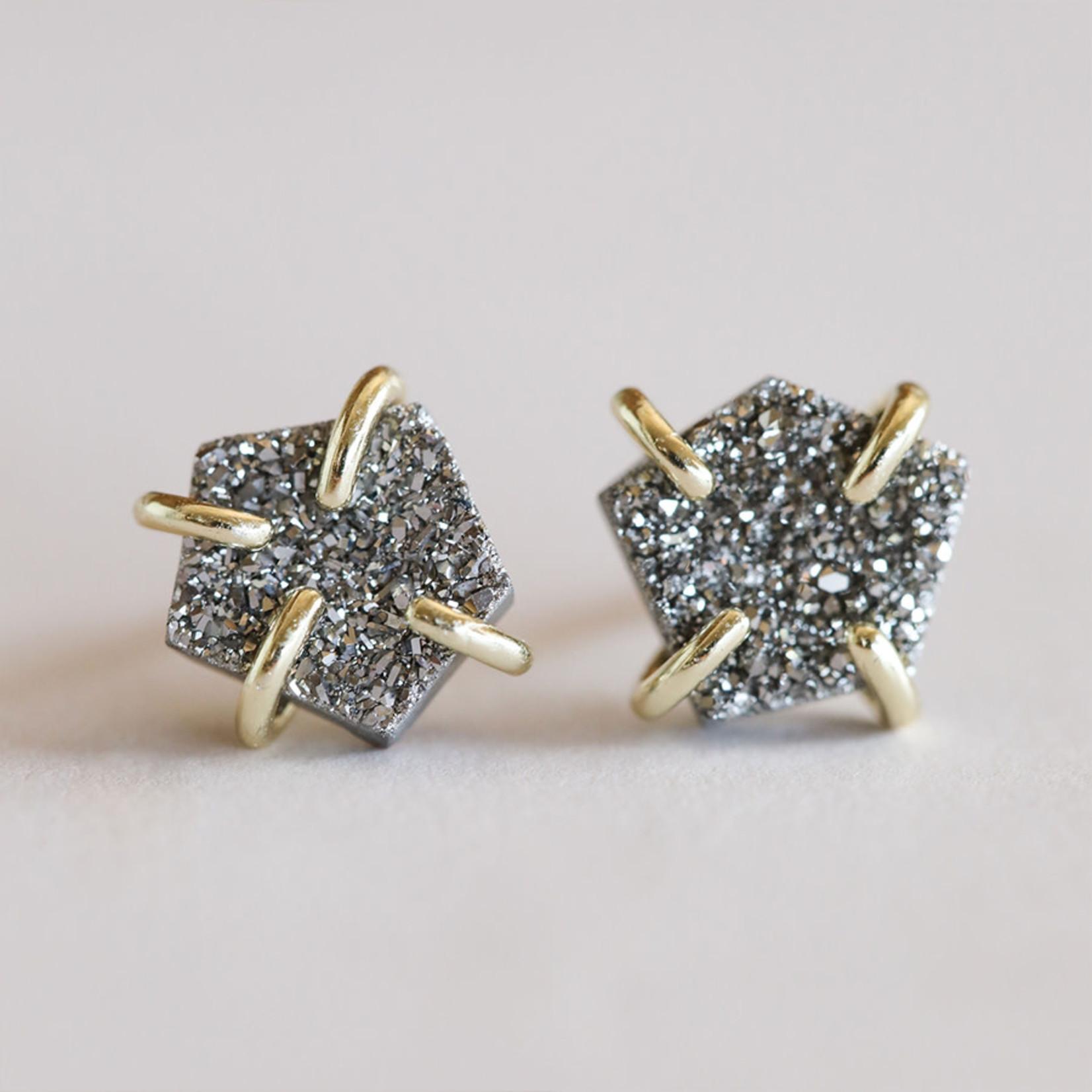 JaxKelly Druzy Prong Earrings