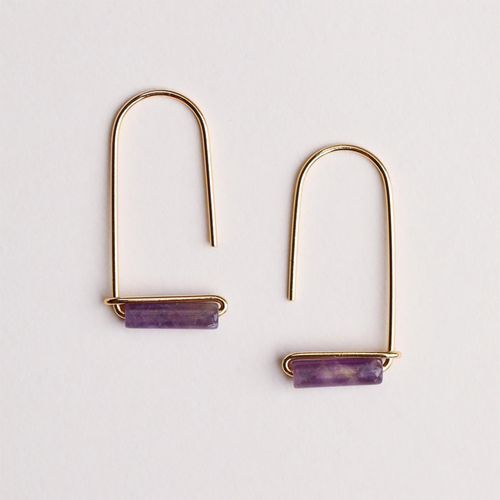 JaxKelly Gemstone Drop Earrings