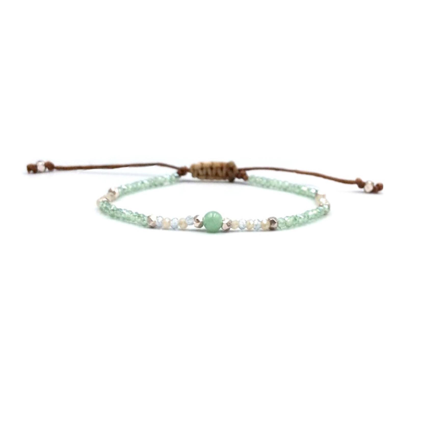 Lotus and Luna Goddess Bracelet