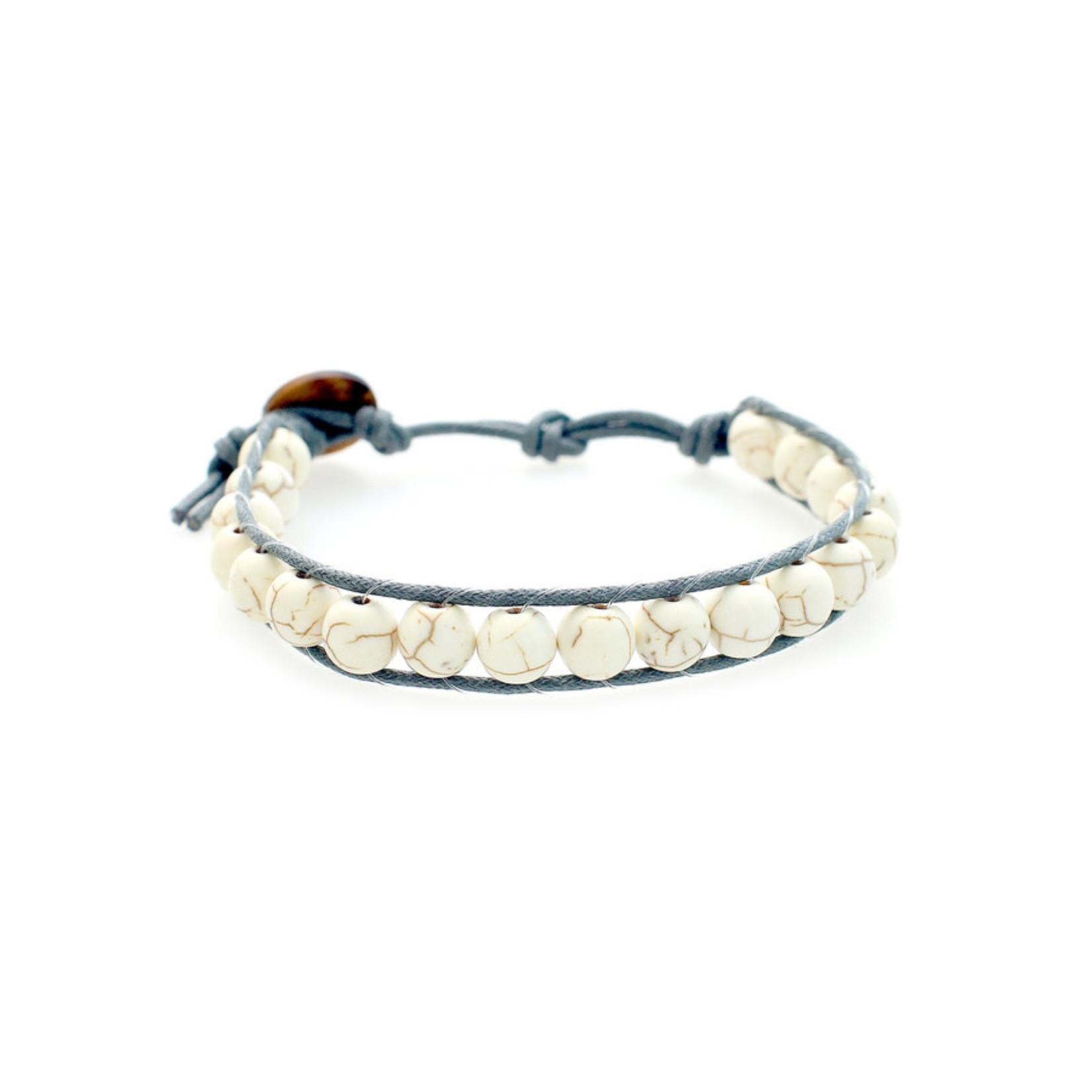 Lotus and Luna Men's Beaded Bracelet