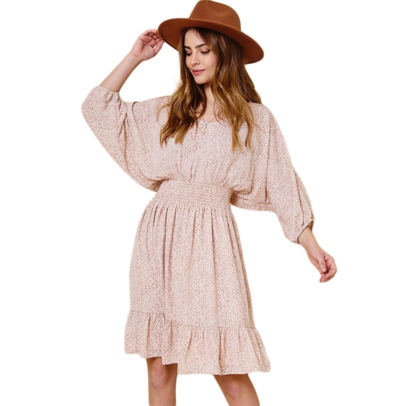 Ces Femme Taupe Cinche Waist Dress