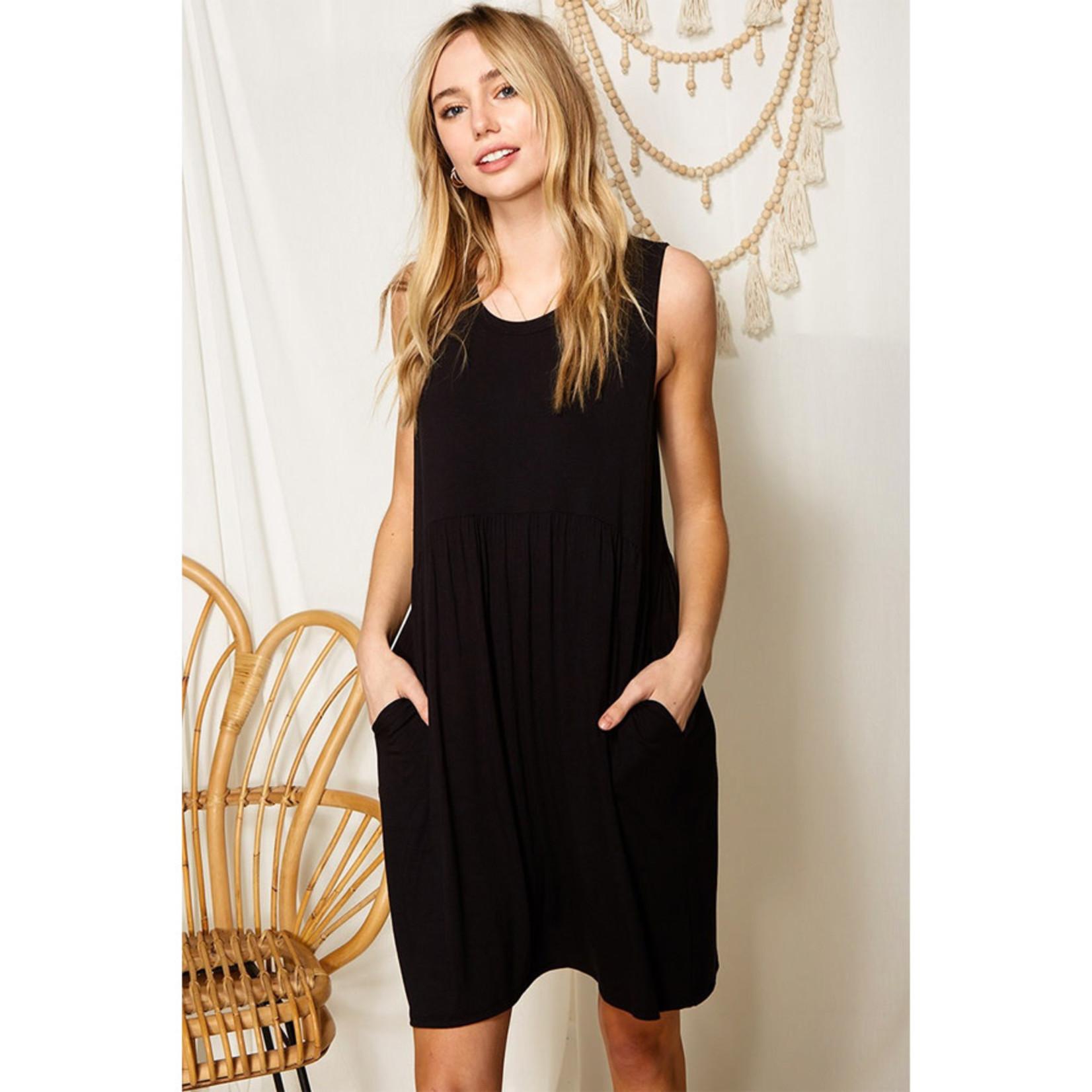 Mittoshop Black Tank Dress w/Pockets
