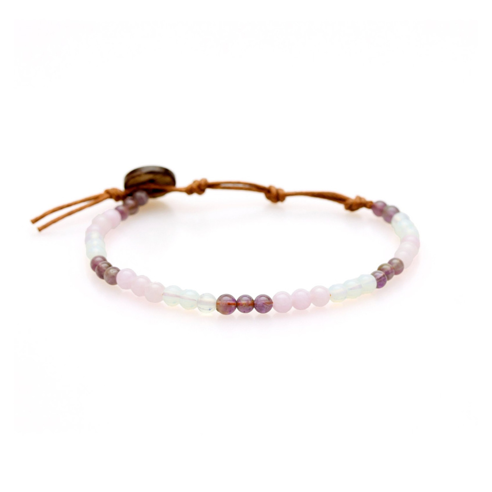 Lotus and Luna 4mm Healing Bracelet