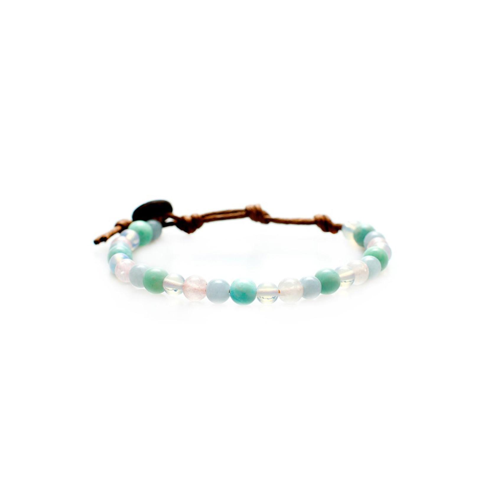 Lotus and Luna 6mm Healing Bracelet