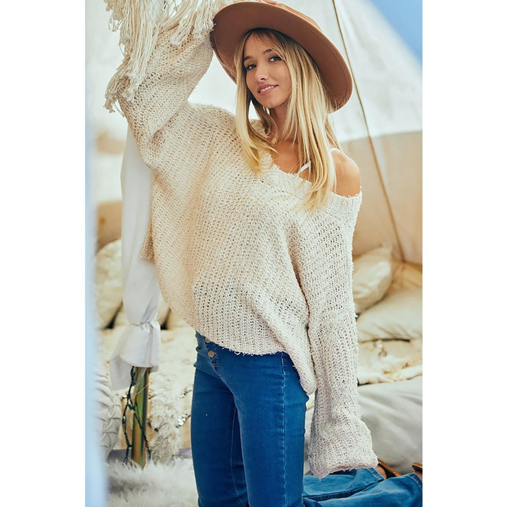Ces Femme Wide V-Neck Sweater