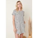 Mittoshop Leopard Print Babydoll Dress