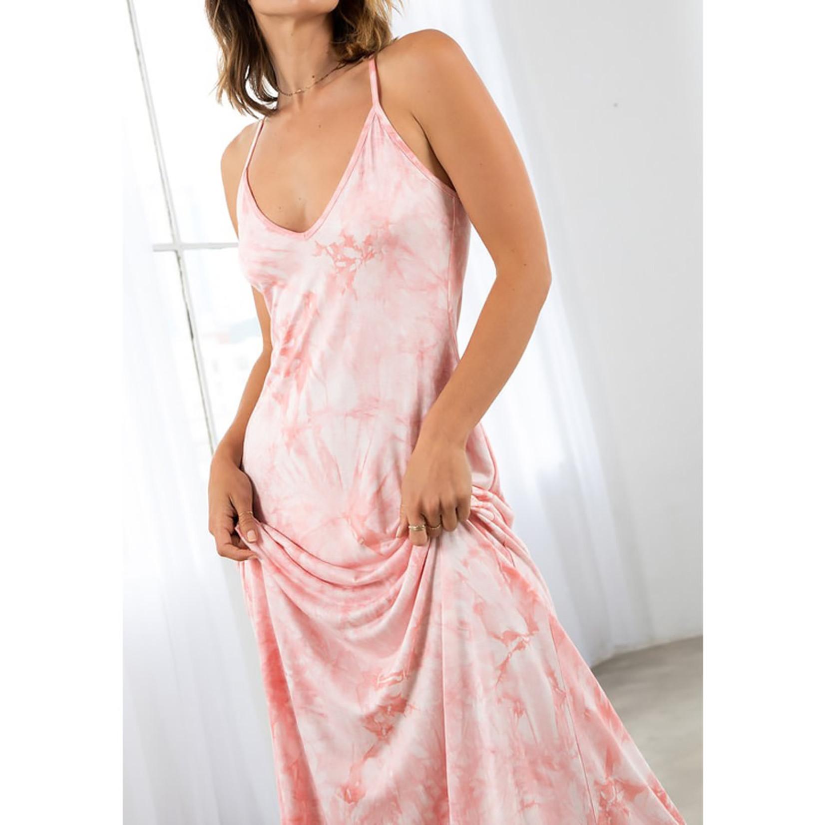 Love Stitch Racerback Tie Dye Maxi Dress
