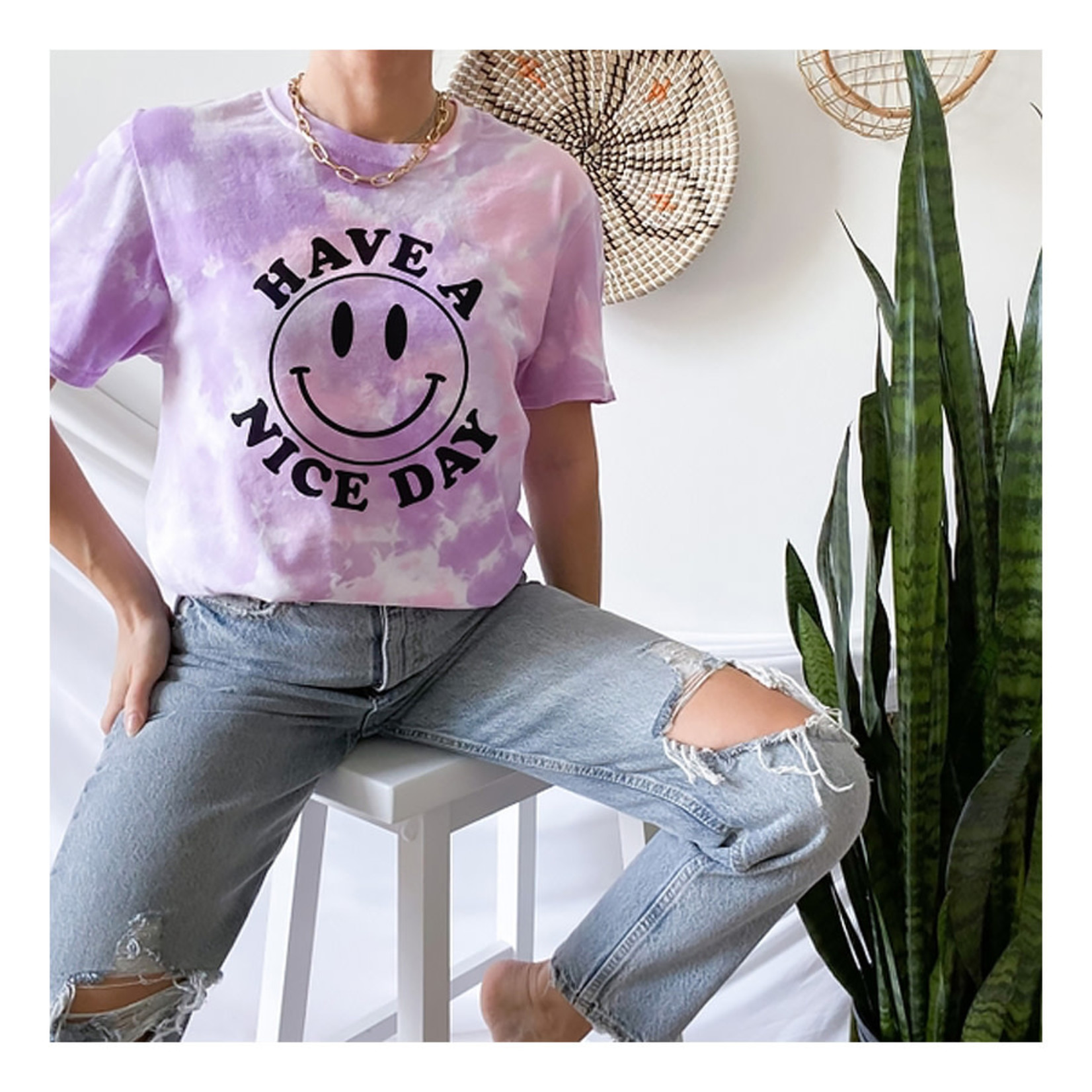 Alley & Rae Apparel Have A Nice Day Tee