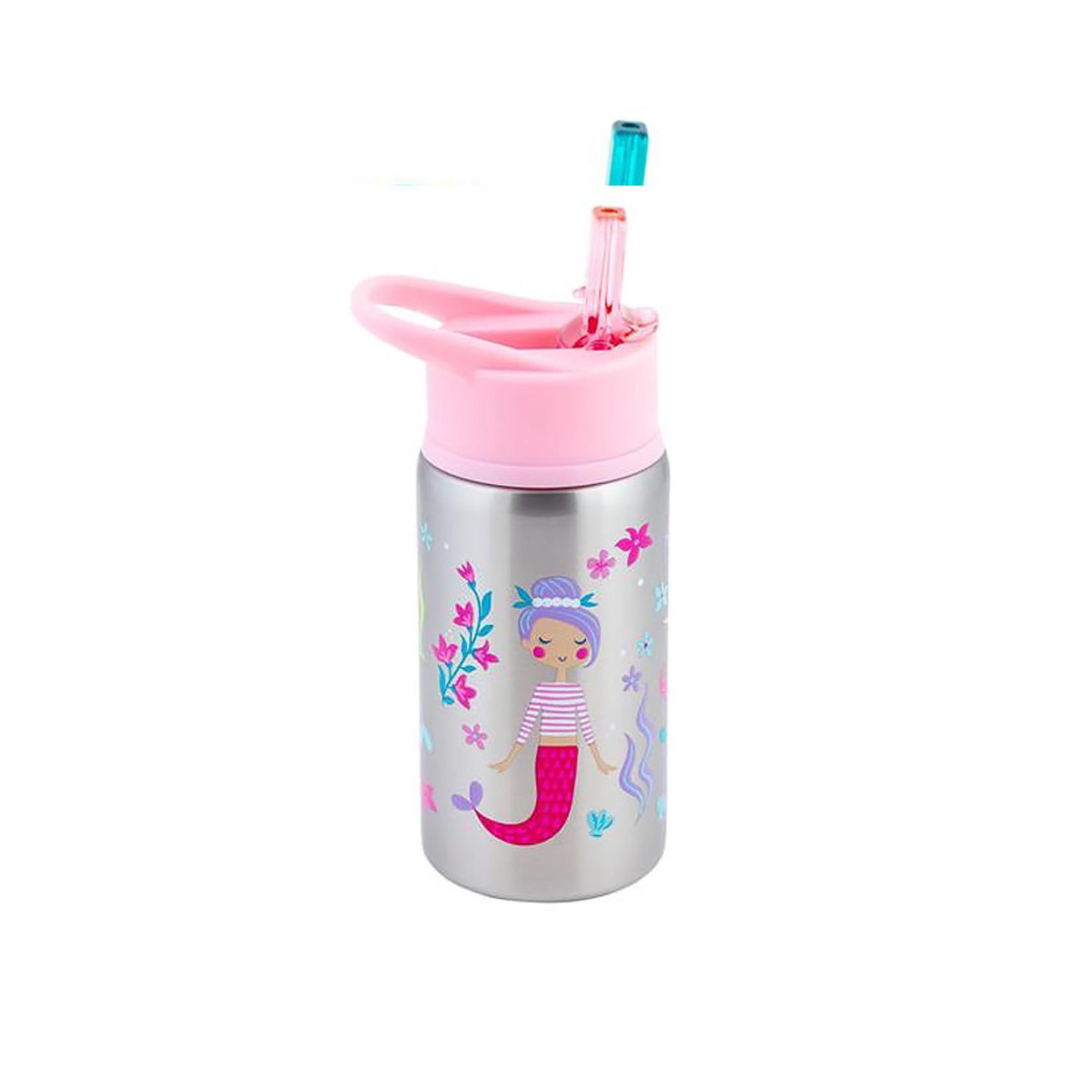 Stephen Joseph Flip Top Stainless Steel Water Bottle