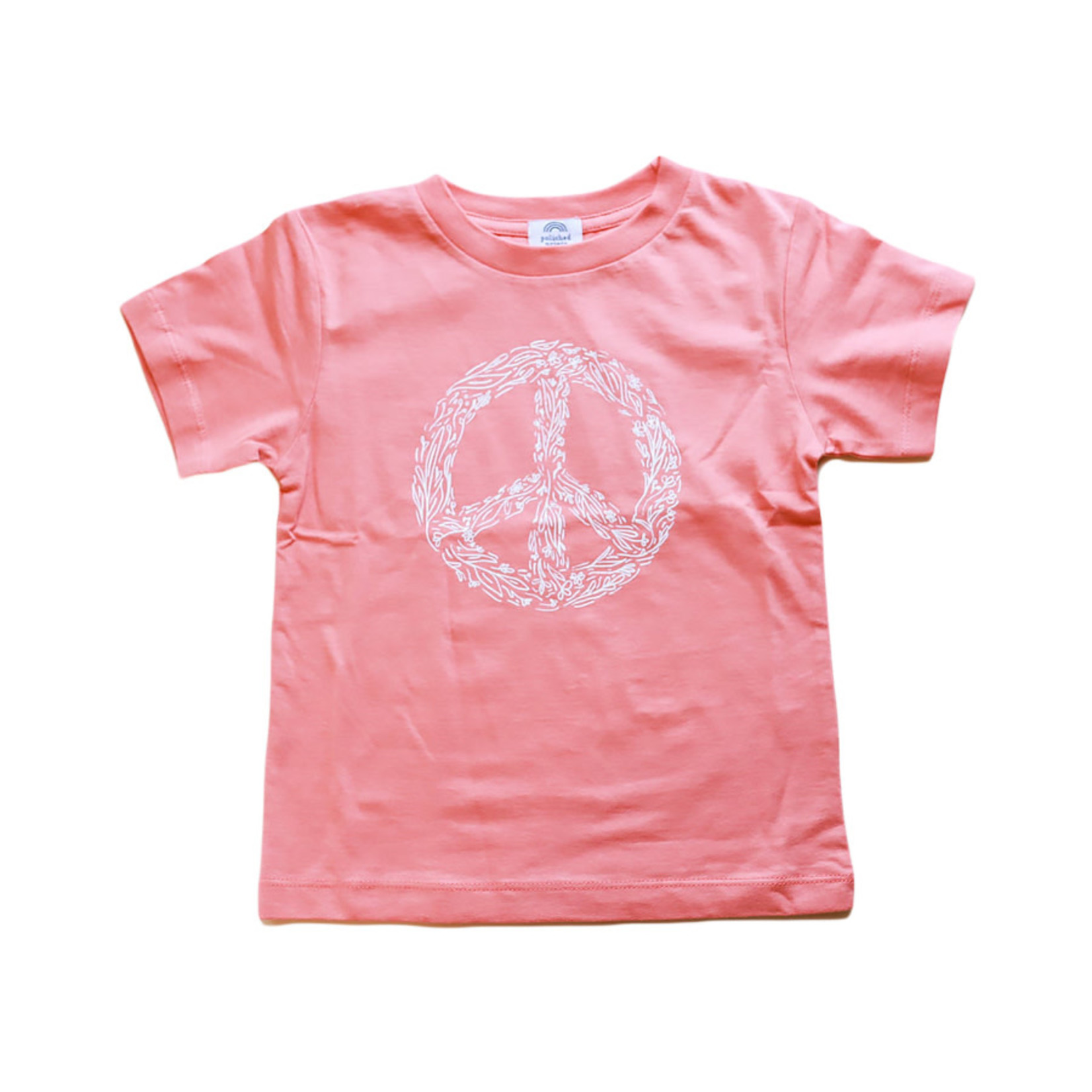 Polished Prints Peace Floral Toddler Tee