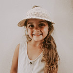 Village Thrive Rattan Kids Sun Visor