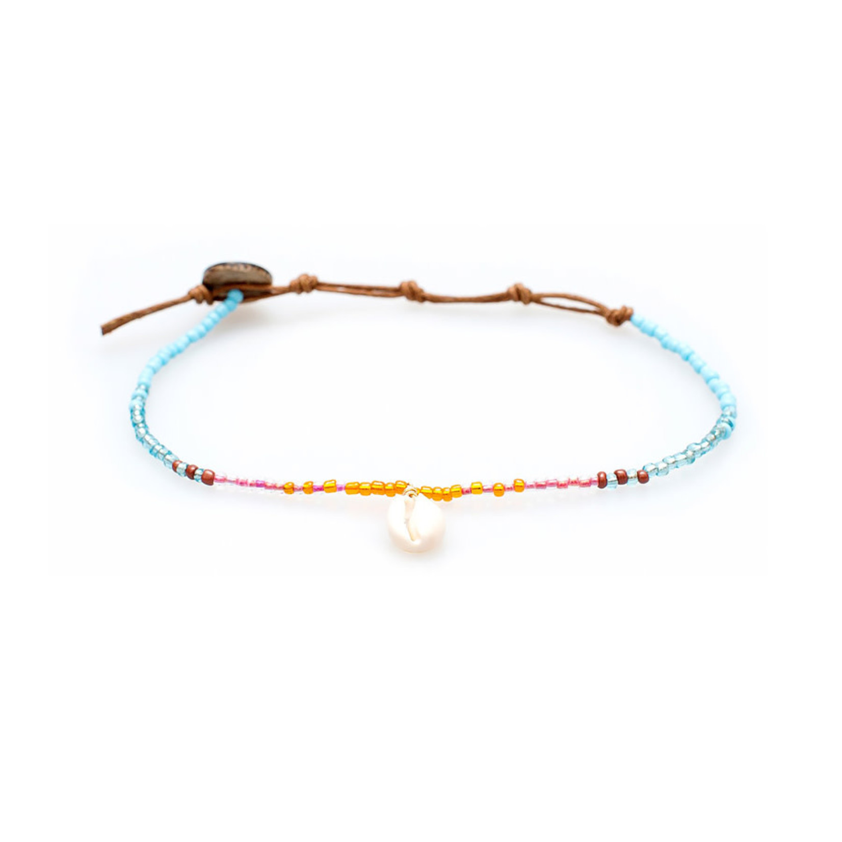 Lotus and Luna Beaded Anklet