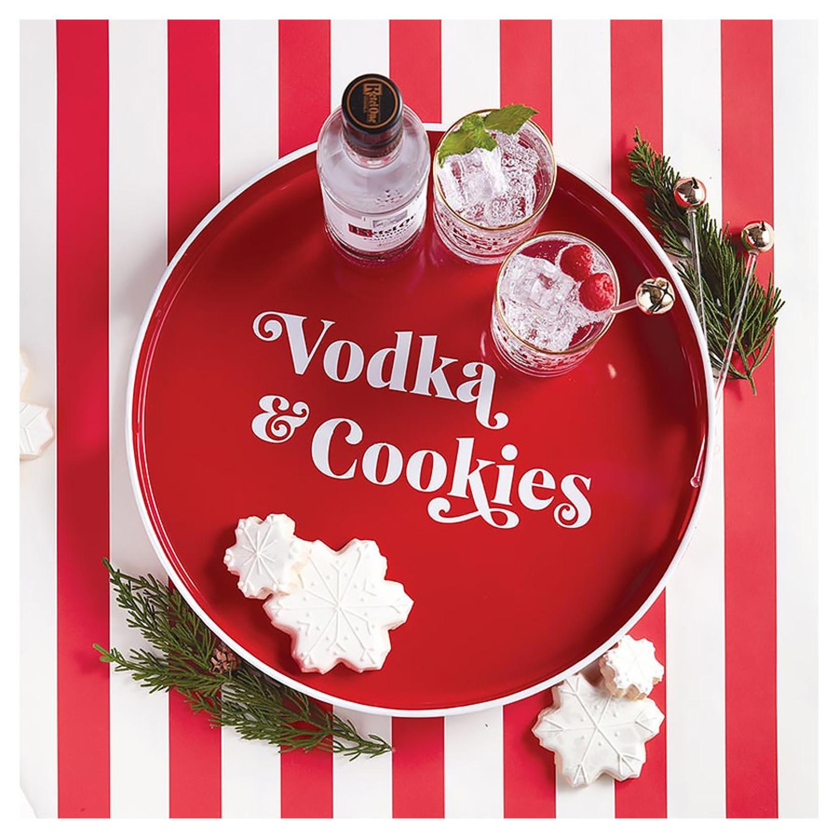 Creative Brands Vodka & Cookies Holiday Bar Tray