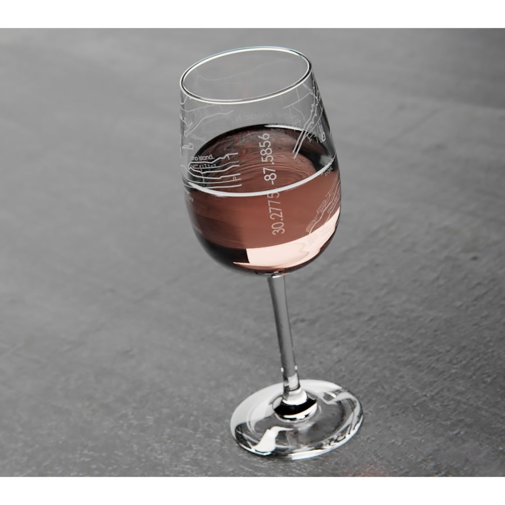Well Told Orange Beach Map Wine Glass