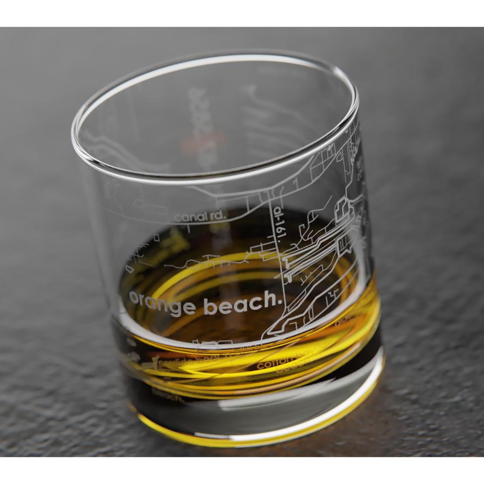 Well Told Orange Beach Map Rocks Glass