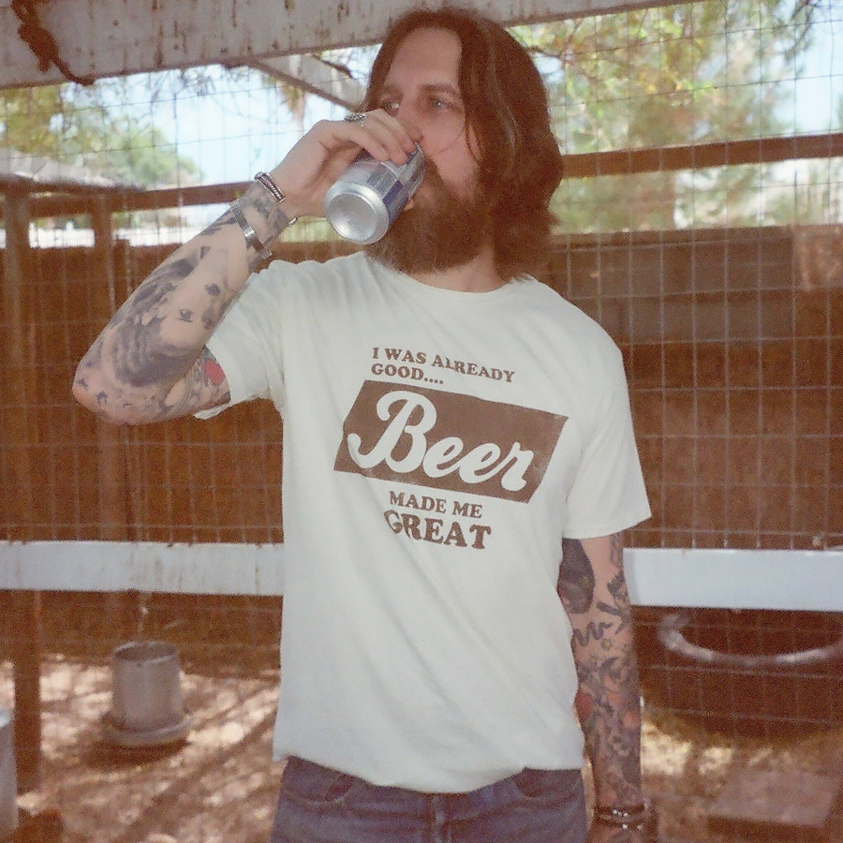 Electric West Beer Made Me Great Tee