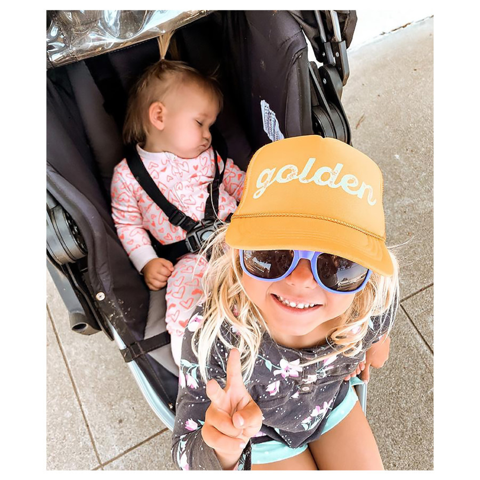 Mothersun and the Captain Youth Golden Trucker Hat