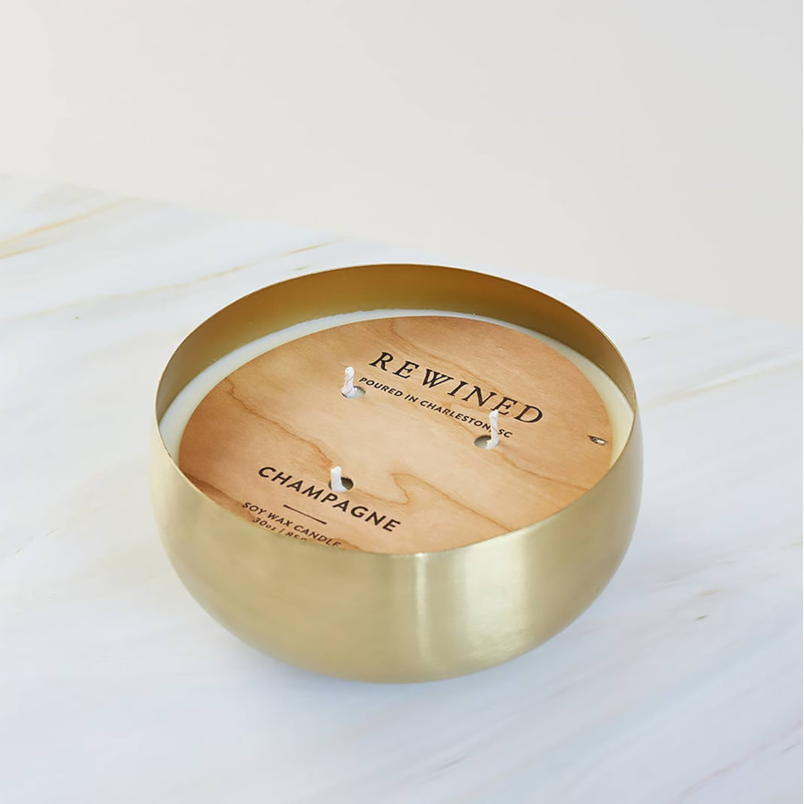 Rewined Gold Bowl Candle