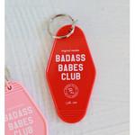Polished Prints Badass Babes Club Motel Keychain