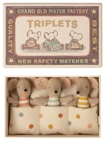 Maileg Triplets Baby Mice in Matchbox
