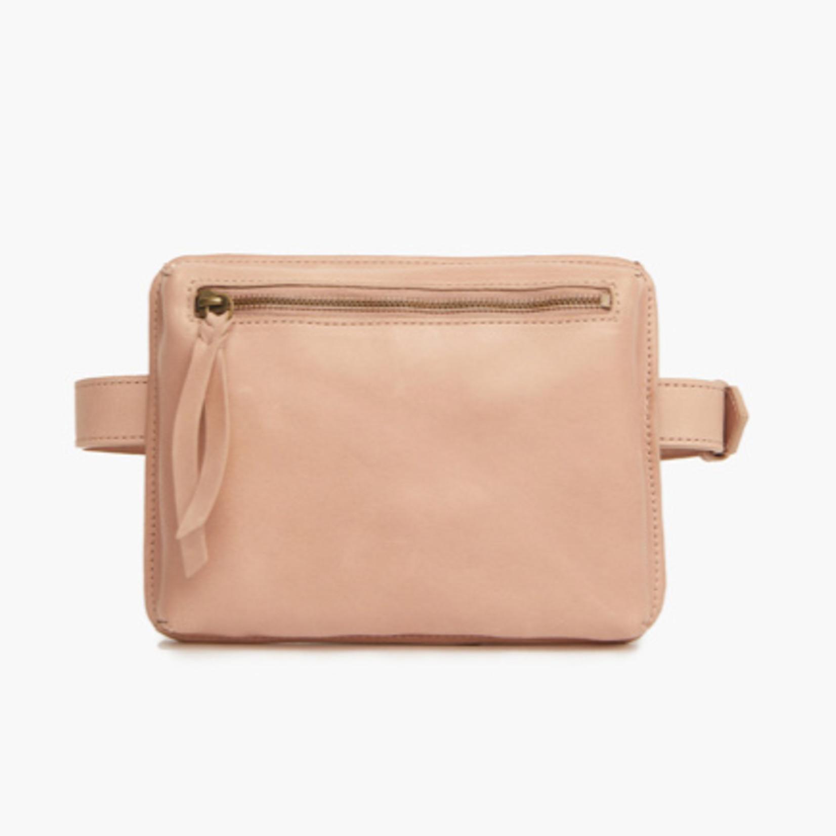 Able Elvia Zip Belt Bag Mauve