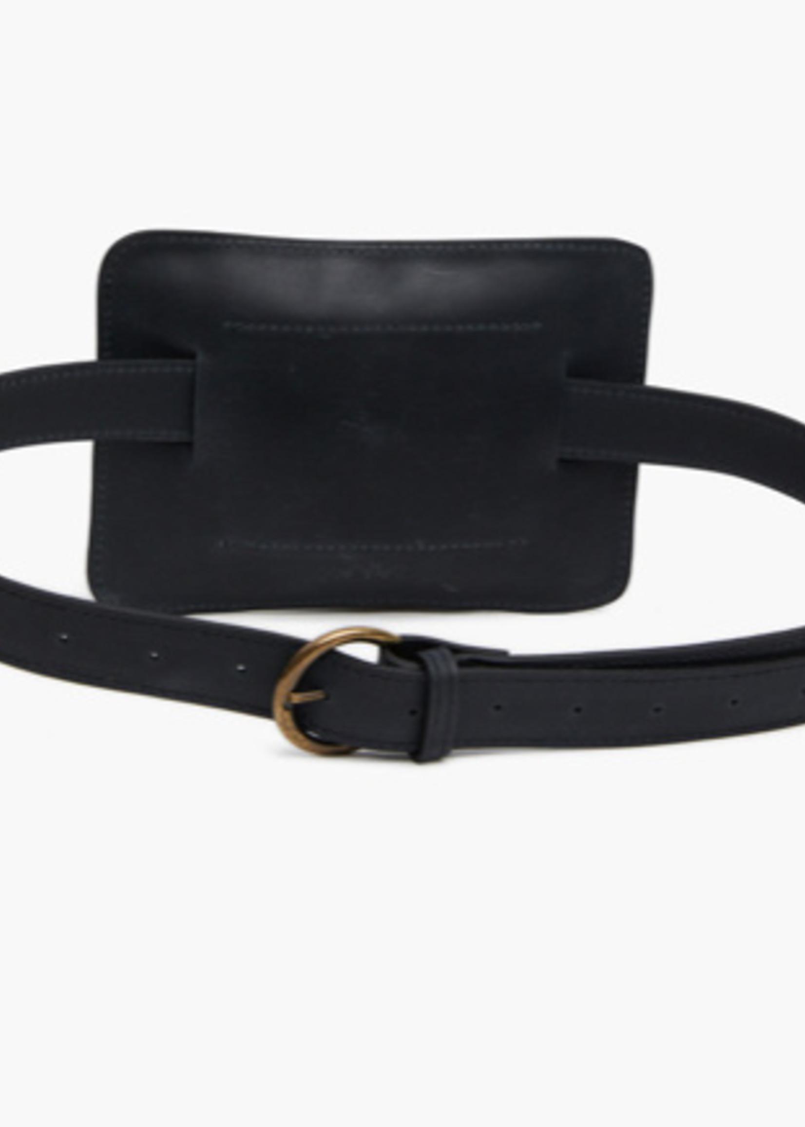 Able Elvia Zip Belt Bag Black