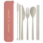Designworks Portable Flatware Set Terra Cotta