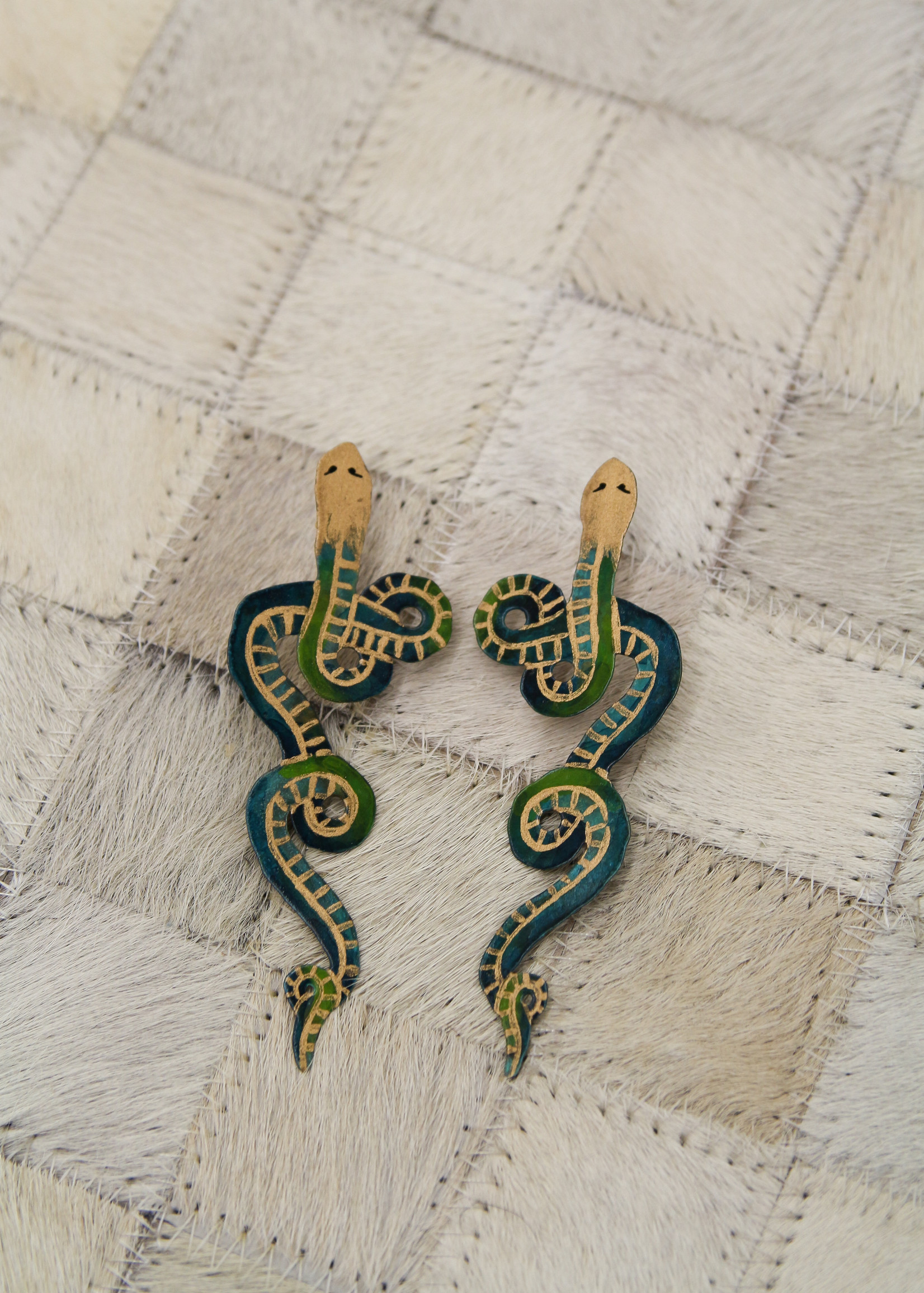 We Dream In Colour Painted Serpentine Earring