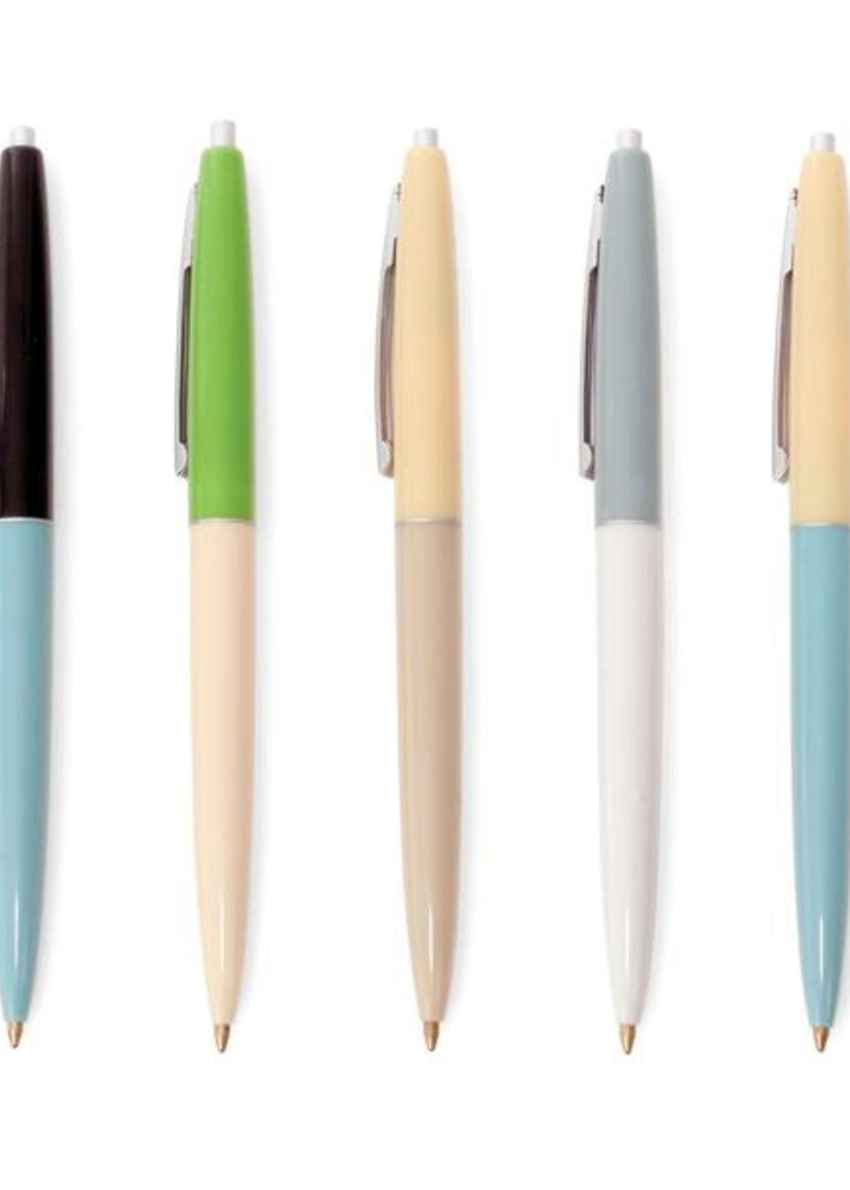 Kikkerland Design Inc Retro Pens S/5